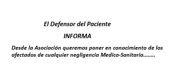 El defensor del paciente informa